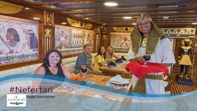 Nefertari Seascope boat trip from El Quseir with dinner