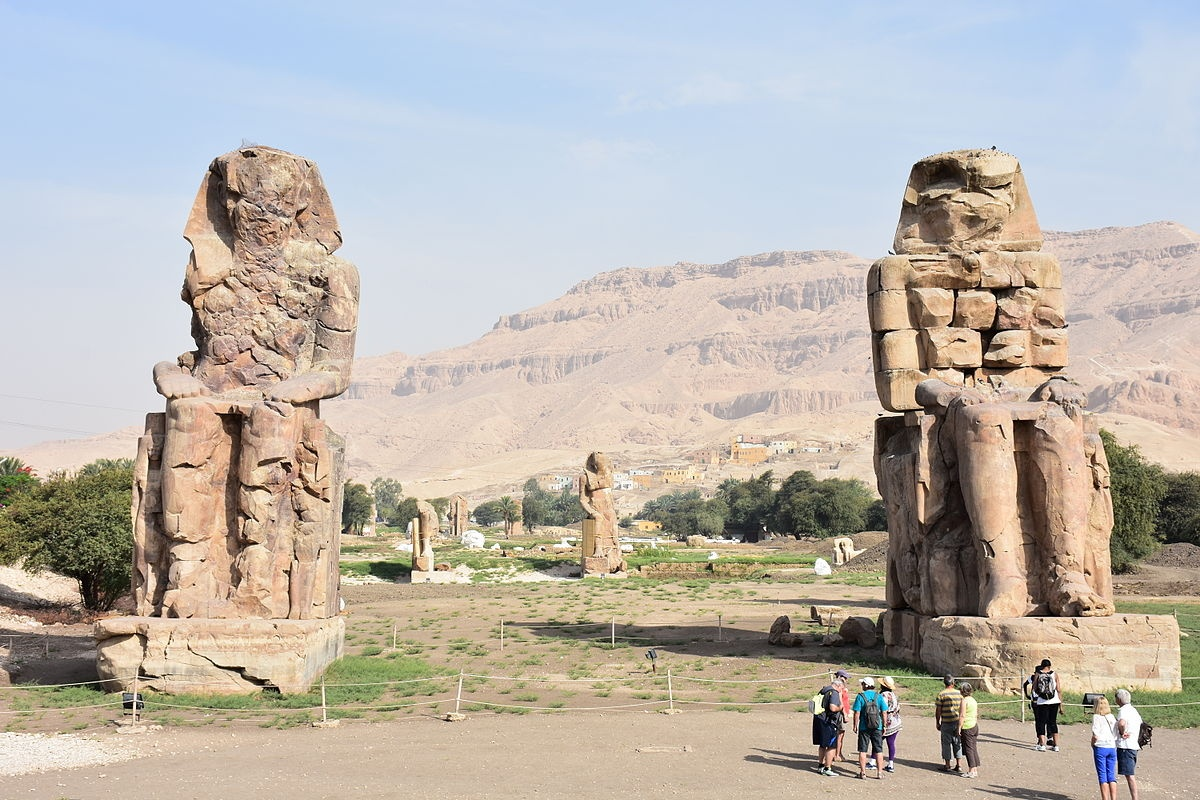 The Colossi of Memnon in Luxor