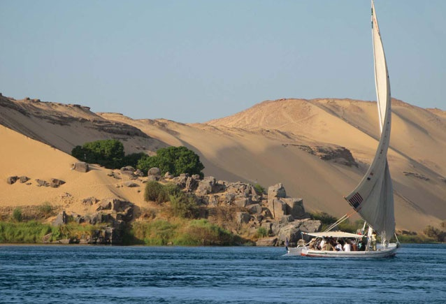 sailing with felucca