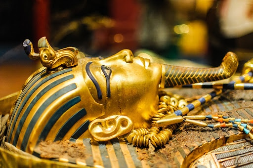 The sarcophagus  of King Tut