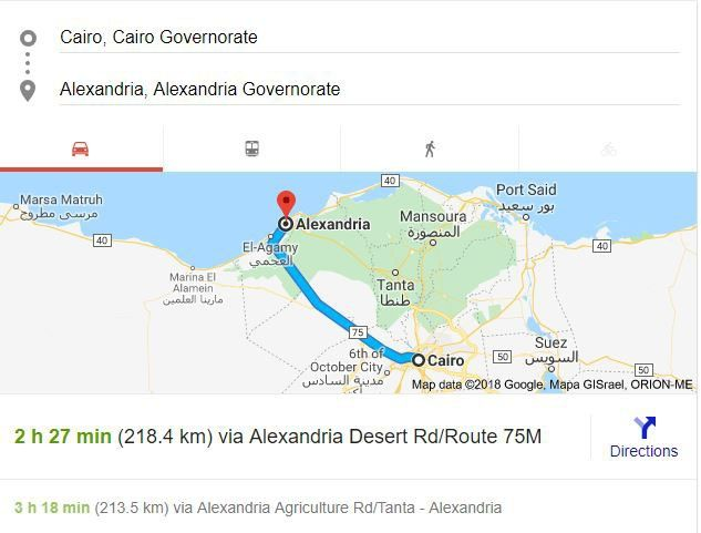 Transfer from Alexandria  to Cairo Airport