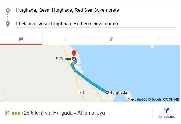 Transfer from El Gouna to Hurghada Airport